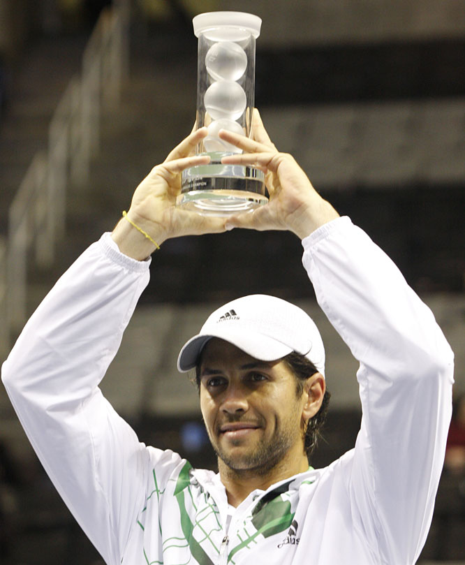 def. Andy Roddick, 3-6, 6-4, 6-4 ATP World Tour 250, Hard (Indoor), $531,000 San Jose, Calif.