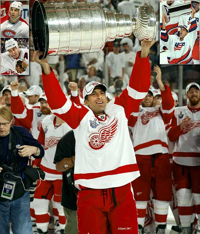 Arguably the greatest American-born hockey player of all-time, Chelios retired at 48 as the second-oldest active NHL player ever, and the longest-tenured defenseman (26) of all time. He won three Norris Trophies as the league's best blueliner, and three Stanley Cups -- two with Detroit and one with Montreal -- and also led Chicago to the 1992 Cup final. He is the only NHL player to ever appear in 400 games with three different teams and he represented the U.S. at four Winter Olympics, including three as team captain.