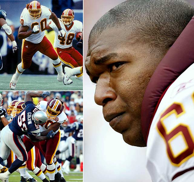 A six-time Pro Bowl left tackle who suffered from a narrowing of the spine during his 10 NFL seasons, Chris Samuels announced his retirement on March 4. Drafted third in 2000 by the Redskins, he started all 141 games in which he played and helped running back Clinton Portis achieve four 1,000-yard rushing seasons. Samuels' upper body went limp when he banged heads with a defensive player Oct. 11 in a game against the Carolina Panthers. He said he's had similar sensations several times during his 10-year playing career, the result of the spinal condition called stenosis.