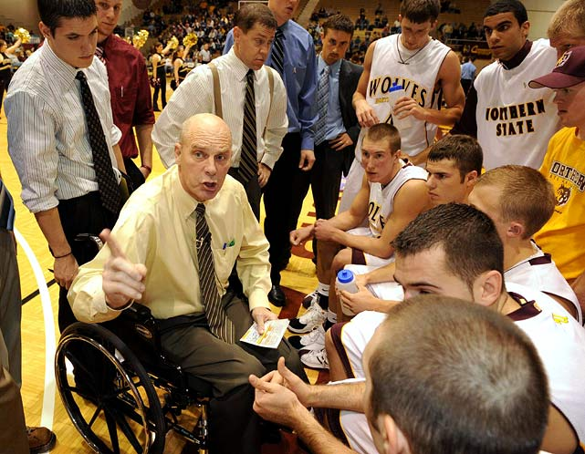The winningest coach in NCAA history, Don Meyer of Northern State in South Dakota announced his retirement in late February. He broke Bob Knight's record of 902 wins in January 2009, and leaves with a career record of 923-324. The NCAA considers Meyer the winningest men's college basketball coach, even though his career was split between the NAIA and NCAA. The NCAA's statistics department counts all of a coach's victories at four-year U.S. colleges if there's a minimum of 10 years at NCAA schools.