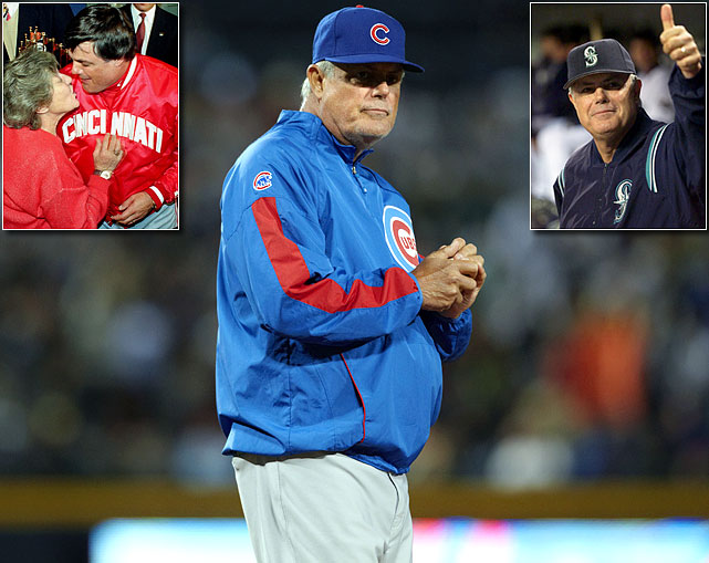 """Sweet"" Lou Piniella announced on August 22 that he was coaching his last game. He managed in the Major Leagues for 23 seasons, amassing a 1835-1713 record at the helm of the Yankees, Reds, Devil Rays, Cubs and Seattle Mariners. In Seattle, Piniella managed one of the best teams in baseball history in 2001, but was never able to bring a championship to the Pacific Northwest. Piniella won the 1990 World Series with the Reds and won 90 or more games eight different times."
