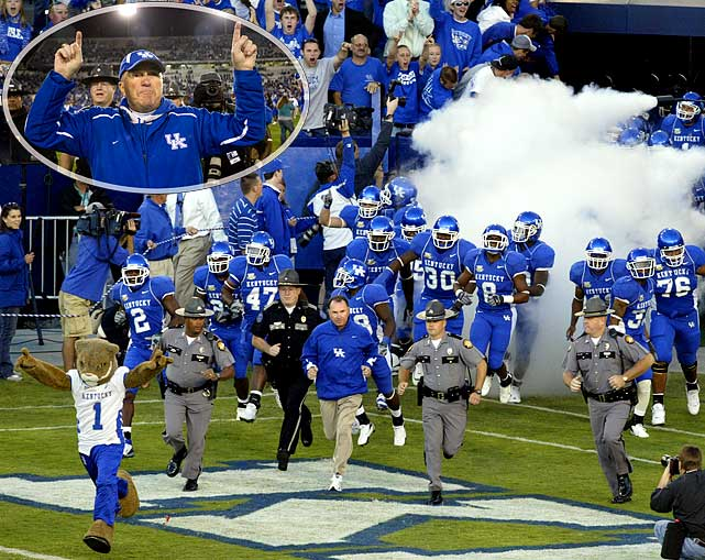 Credited with getting Kentucky's football program back on the road toward respectablility, Rich Brooks made it known that he was flirting with retirement after the team's devastating 21-13 loss to Clemson in the Music City Bowl. A former head coach of the St. Louis Rams (13-19 career record), his Kentucky team upset eventual national champion LSU in 2007.