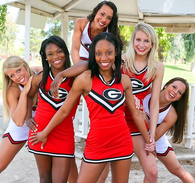 Erica Smith is a junior at the University of Georgia. This bulldog cheerleader is a huge New Orleans Saints fan and loves to watch Keeping Up With The Kardashians -- not a surprising combination.  <br><br>Want to find out more? <br>Click the '20 Questions' link below.