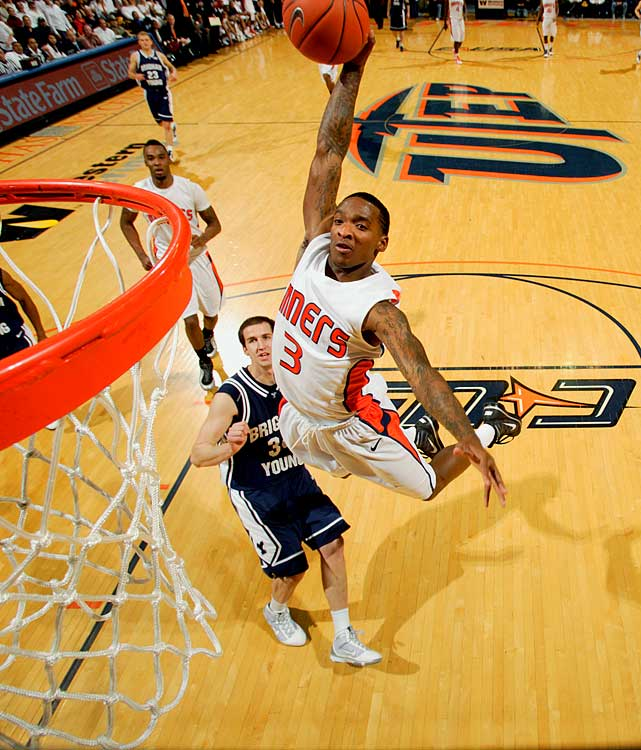 The Miners boast and enviable combo in the paint in Louisville transfer Derrick Caracter and Arnett Moultrie, but when guard Randy Culpepper (pictured) gets going, this team becomes very dangerous. UTEP seems to match up pretty well against its first round opponent, Butler.
