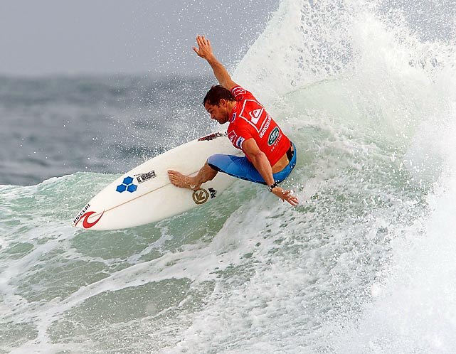 Taylor Knox of the U.S. surfs the pipe at the Quiksilver Pro 2010 in Snapper Rocks, Australia.