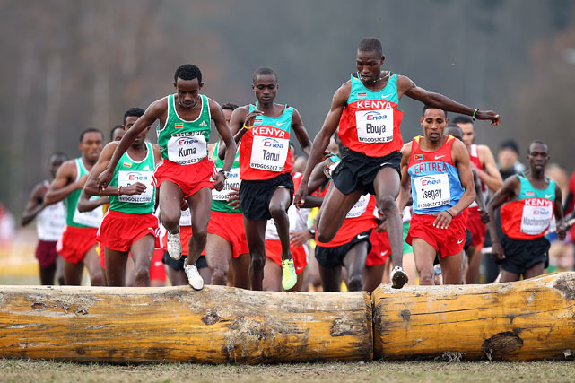 Joseph Ebuya of Kenya at the senior race of the IAAF World Cross Country Championships on March 28 in Bydgoszcz, Poland.  Ebuya completed the 12km course in 33 minutes to win the men's title, ahead of Eritrea's Teklemariam Medhin and Uganda's Moses Ndiema Kipsiro.