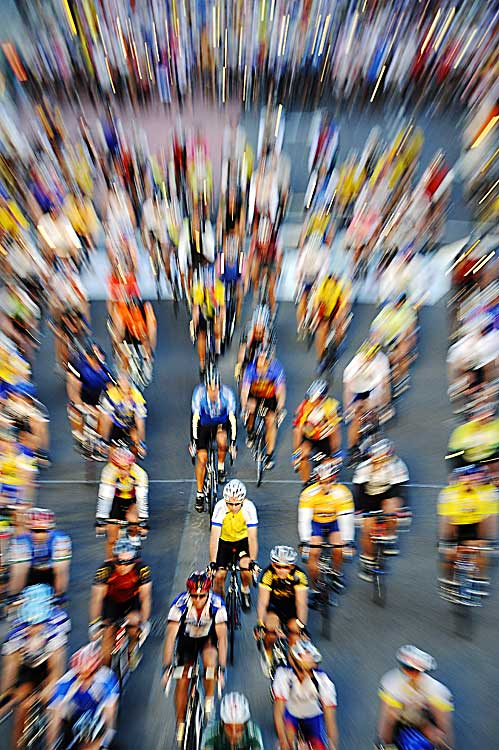 Riders take off at the start of the Cape Argus Cycling race in Cape Town, South Africa on March 14.