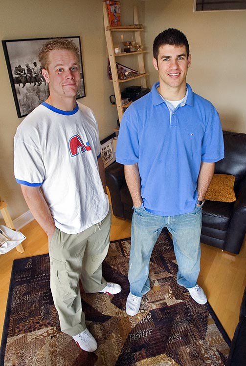 Four years before he became Minnesota's $184 million man, Joe Mauer (right) was an average 23-year-old sharing a house with his friend, Justin Morneau (left). In 2006, SI took a camera to check out their bachelor pad. Here are some shots from that assignment.