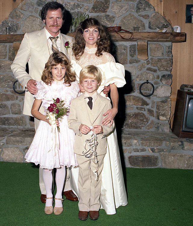 The third of Dale Sr.'s four children, Dale Jr. is shown here with his father, stepmother, Teresa, and sister, Kelley.