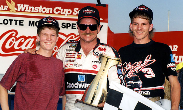 In only the second time in NASCAR history that a father and two of his sons competed against each other, Dale Earnhardt, Junior and Kerry raced in 2000's Winston Cup.