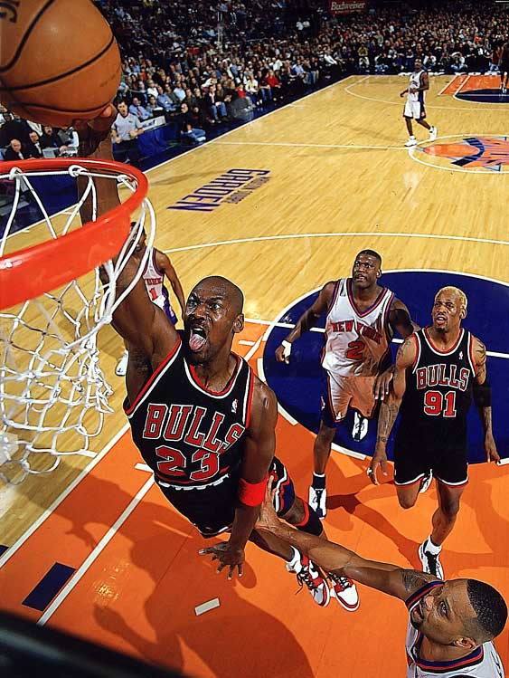 Ten times Jordan finished as the league's top scorer. He and Chamberlain are the only players to have won seven straight league scoring titles. By comparison, the leaders among active players, Kobe Bryant and Shaq have only done it twice.