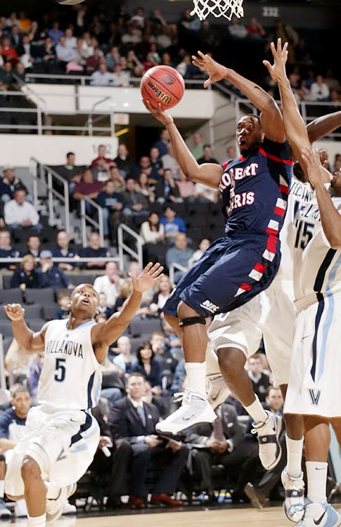 No.15-seed Robert Morris gave No. 2 Villanova a run for its money, thanks in part to guard Mezie Nwigwe, who had 13 points and three steals.