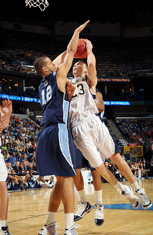 In one of the first upsets of the tournment, Gerald Lee and No. 11-seed Old Dominion toppled No. 6 Notre Dame. Ben Hansbrough (23) led the Irish with 17 points and six boards.