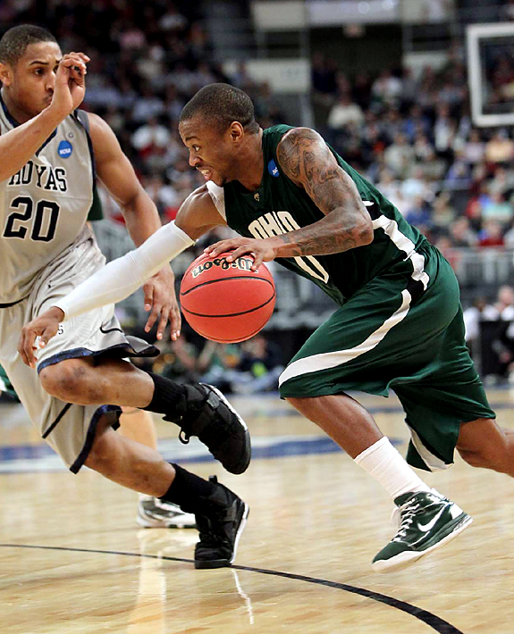 Ohio was a No. 9 seed for the MAC tourney, but not only earned a spot in the NCAAs, it recorded the day's biggest upset, knocking off the third-seeded Hoyas. Senior Armon Bassett collected 32 points on 10-of-19 shooting for the Bobcats.