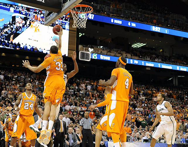 Brian Williams not only blocked two shots, he added 11 points and nine rebounds for sixth-seeded Tennessee. Williams' putback with 2:10 remaining pulled the Vols to 69-68.