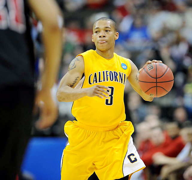 Jerome Randle (shown) and Theo Robertson collected 21 points as eighth-seeded Cal answered its critics by knocking off Louisville. The Golden Bears' reward? A Sunday meeting with top-seeded Duke.