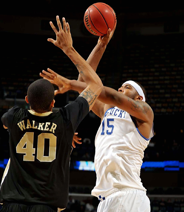 Freshman DeMarcus Cousins (No. 15) helped Kentucky score 52 points in the paint and shoot 60 percent. Longtime Wake Forest fans had seen this all before. These teams had met four previous times, and Kentucky had won each time by 20 or more, the last two in the NCAA tournament.