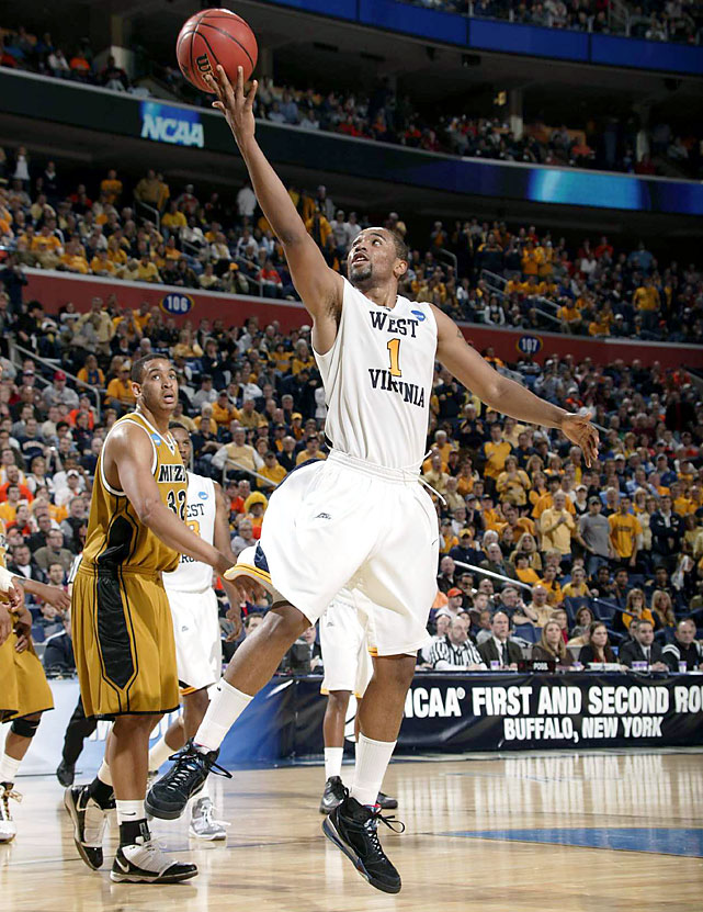 Da'Sean Butler scored scored 19 of his 28 points in the first half, for nearly two-thirds of the Mountaineers' 30 points in the opeing 20 minutes, as West Virginia built an early lead. West Virginia (29-6) advanced to face No. 11 seed Washington in the East Regional semifinals on Thursday.