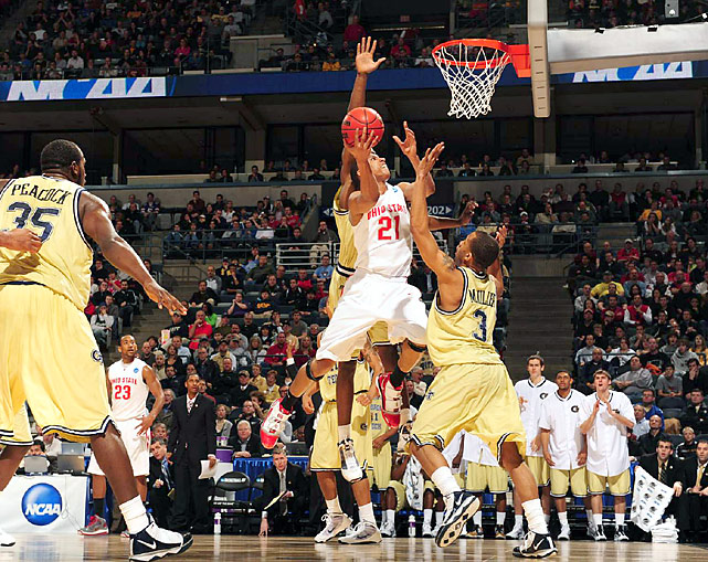 Evan Turner, a leading candidate to add national player of the year to his Big Ten honors, overcame a poor shooting game to finish with a game-high 24 points.