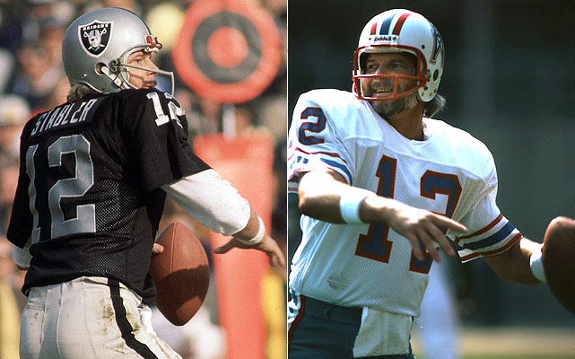 """The Snake"" was brought in from Oakland to help Houston get past the Steelers in the AFC title game, which they had lost twice to their nemesis. Alas, he took the Oilers to the playoffs only to fall in the wild card round...to the Raiders."