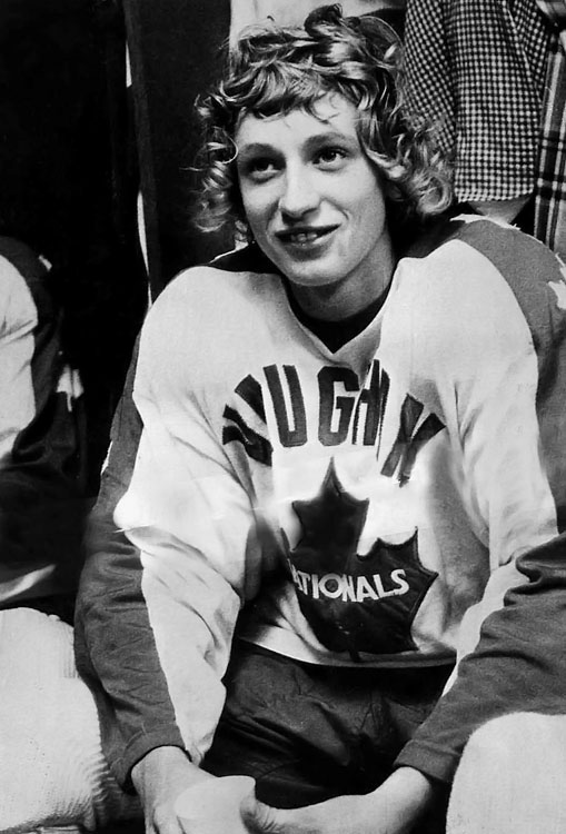 By age 14, the curly-topped phenom was a target of resentful parents in Brantford, some of whom cheered when he was injured during a game, so he moved to Toronto to play minor hockey for the Nationals.