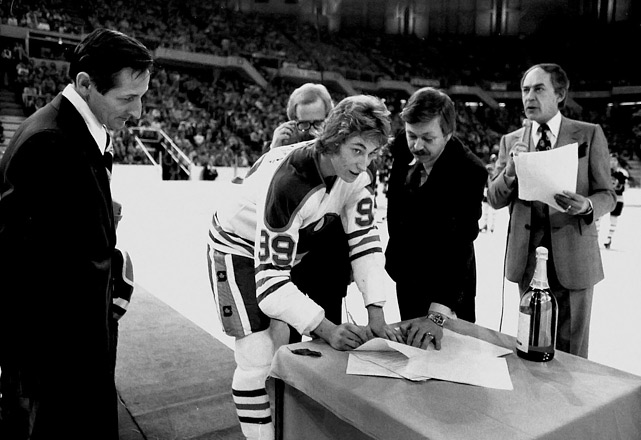 Gretzky had played only eight games for Indianapolis when the team folded. He was sold to the WHA's Edmonton Oilers, with whom he signed a 21-year contract worth $1 million per season on his 18th birthday. The Oilers were absorbed by the NHL later that year and Gretzky's accomplishments and legend would reach unprecedented heights.