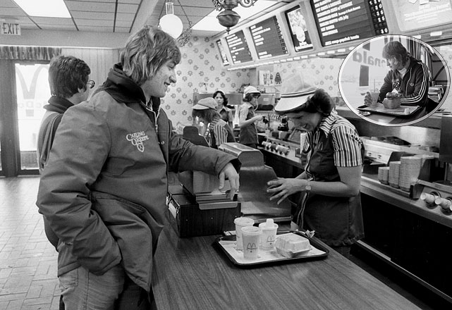 The future Great One grabs some grub at a McDonald's in Sault Ste. Marie.