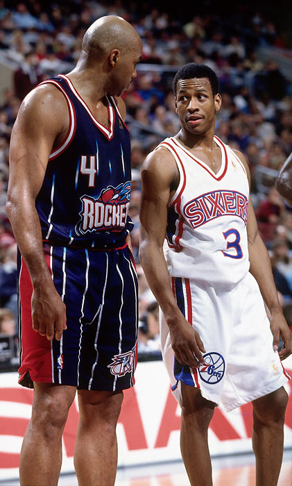 After five seasons in Phoenix, Barkley was traded to Houston. Meanwhile, in Philadelphia, Allen Iverson became the Sixers next great star.