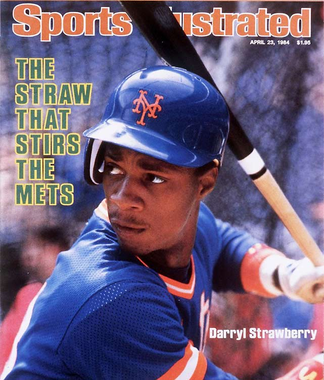 New York Met Darryl Strawberry, angry over a contract dispute and a perceived lack of support from his fellow Mets, takes a swat at teammate Keith Hernandez during a spring training photo shoot. Strawberry left camp after the incident.