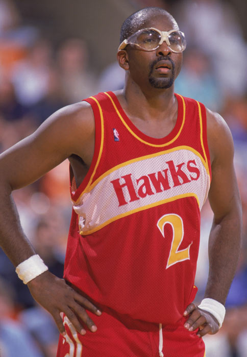 Atlanta's Moses Malone picks up his 15,000th career rebound during the Hawks' 127-117 win over Dallas.
