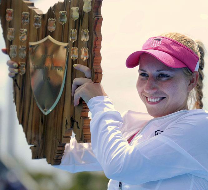 def. Shahar Pe'er, 6-2, 6-4 WTA International, Hard, $220,000 Hobart, Australia