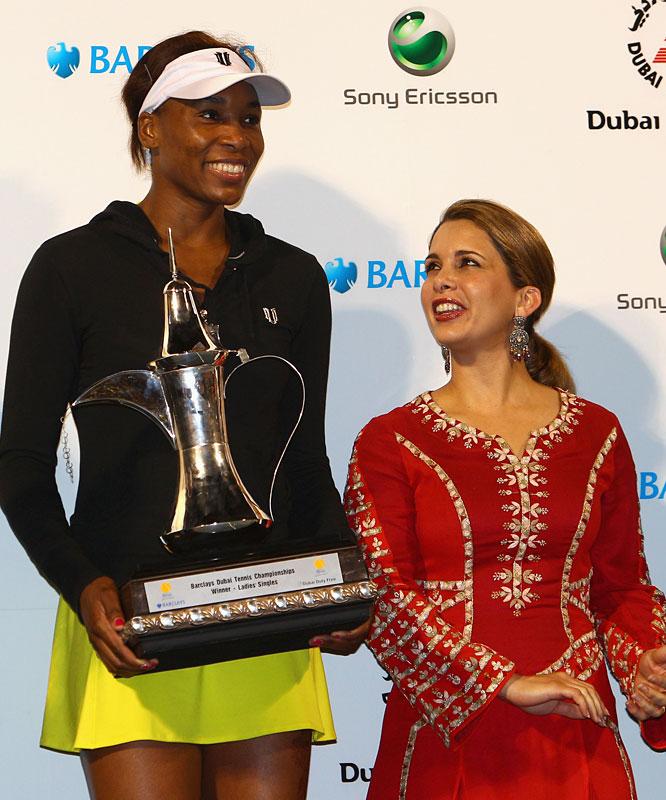 def. Victoria Azarenka, 6-3, 7-5 WTA Premier, Hard, $2,000,000 Dubai, United Arab Emirates