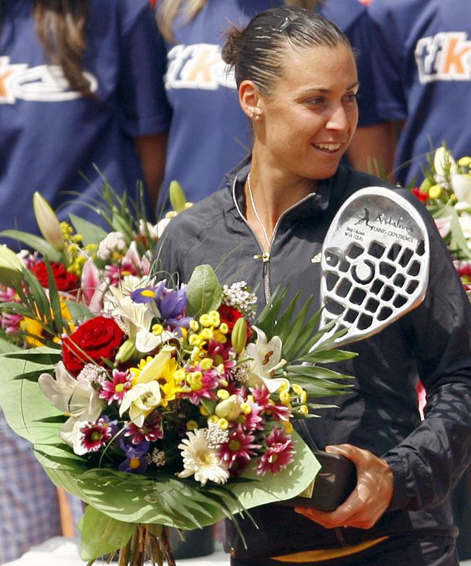 def. Carla Suarez Navarro, 6-2, 4-6, 6-3 WTA International, Clay, $220,000 Marbella, Spain