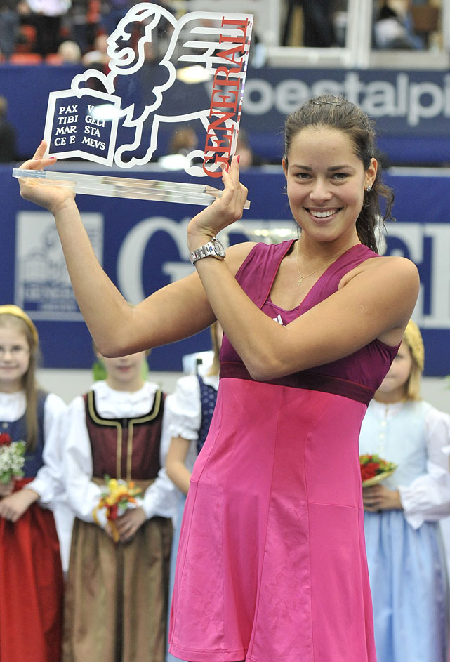def. Patty Schnyder, 6-1, 6-2 WTA International, Hard, $220,000 Linz, Austria
