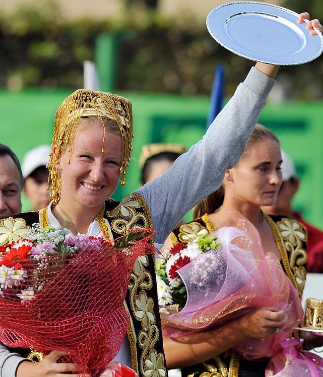 def. Elena Vesnina, 6-4, 6-4 WTA International, Hard, $220,000 Tashkent, Uzbekistan