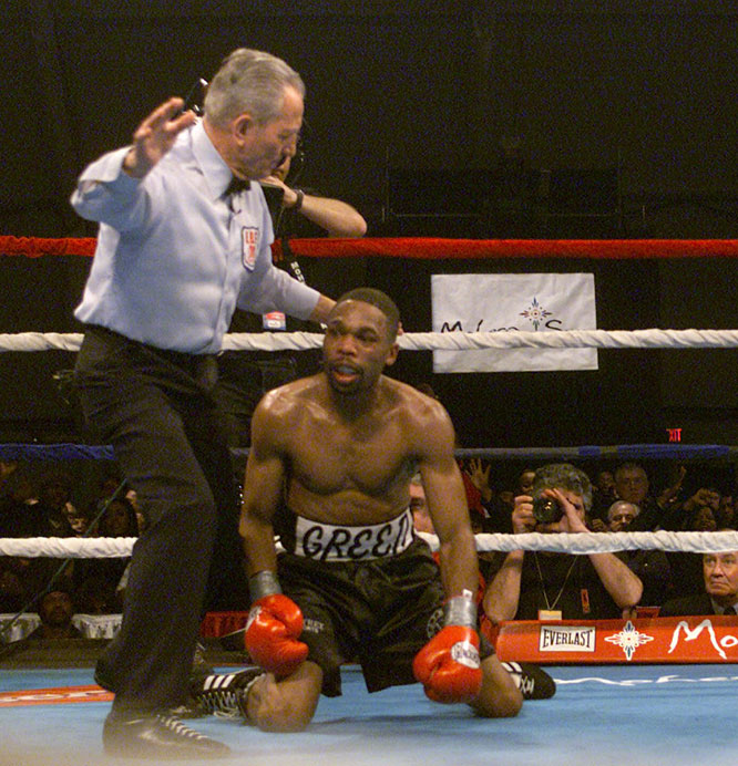 One of Mercante's last assignments came in '01, when Judah overcame a sluggish start to earn a 10th-round TKO of Green in Uncasville, Conn.