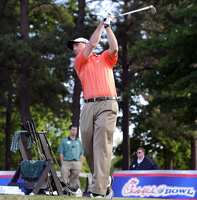 Clemson's Dabo Swinney, who teamed with ex-49ers wide receiver Dwight Clark, shot a three-over to come in 11th.