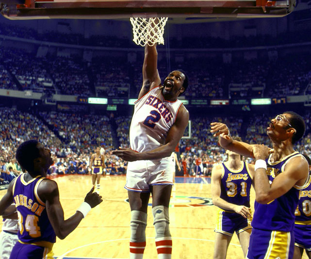 Malone's second and third MVP awards came in two straight seasons, but on different teams. In 1982, Moses finished his Rockets career by leading the league in rebounding and minutes played, and finishing second in scoring. After joining a star-studded Sixers roster that included Julius Erving and Maurice Cheeks, Malone won MVP honors again in 1983, becoming the only player to win the award back-to-back with two different teams.