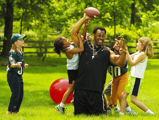 Despite being famously booed by Eagles the night he was drafted, McNabb has been lauded for being a role model for children in Philadelphia