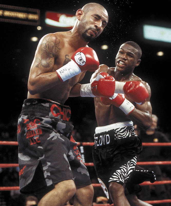 "Neither Mayweather nor Corrales had suffered a knockdown as a professional entering their 130-pound title fight. But the precocious ""Pretty Boy"" sent ""Chico"" to the canvas no fewer than five times in an emphatic victory."