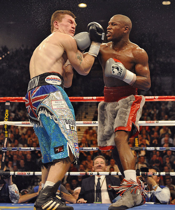 Mayweather defended his WBC welterweight title against Hatton, the lineal junior welterweight champion who moved up in weight for the fight. After retaining the championship with a 10th-round knockout, Mayweather went into semi-retirement for the next 21 months.