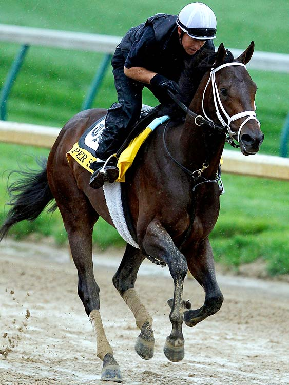 This is one of four starters for trainer Todd Pletcher, a winning machine everywhere but in the Kentucky Derby, where Pletcher is 0-for-24 in nine Derbies (and lost this year's certain Derby favorite when Eskendereya went down with a front leg injury six days before the race). Super Saver has been third (Tampa Bay Derby) and second (Arkansas Derby) in two prep races, but for those who believe in Kentucky fate, look at the jockey on his back: Calvin Borel, winner of two of the last three Kentucky Derbies (2007 on Street Sense and 2009 on longshot Mine That Bird).