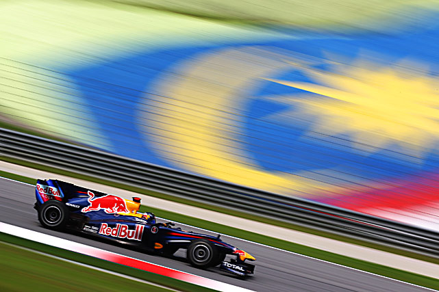 Sebastian Vettel of Germany drives during practice for the Malaysian Formula One Grand Prix on April 2. Vettel went on to win the race.