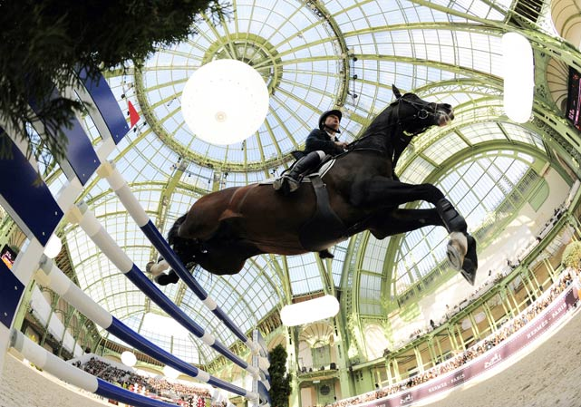 Sweden's Rolf-Goran Bengtsson, riding Casall La Silla, competes during the International Jumping Competition on April 4 in Paris. Bengtsson finished second to Germany's Marcus Ehning.