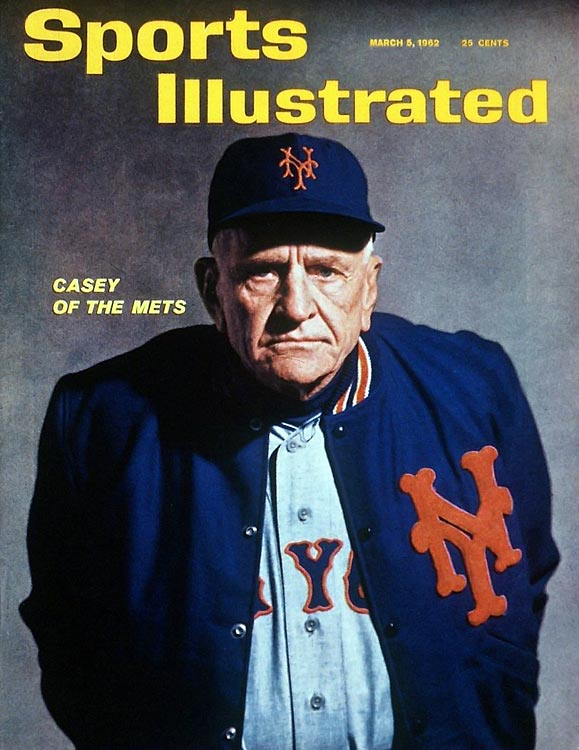 """Can't anybody here play this game?""    -- to his lovably awful 1962 Mets, who went 40-120.  Honorable mention:    ""Good pitching will always stop good hitting and vice-versa"""