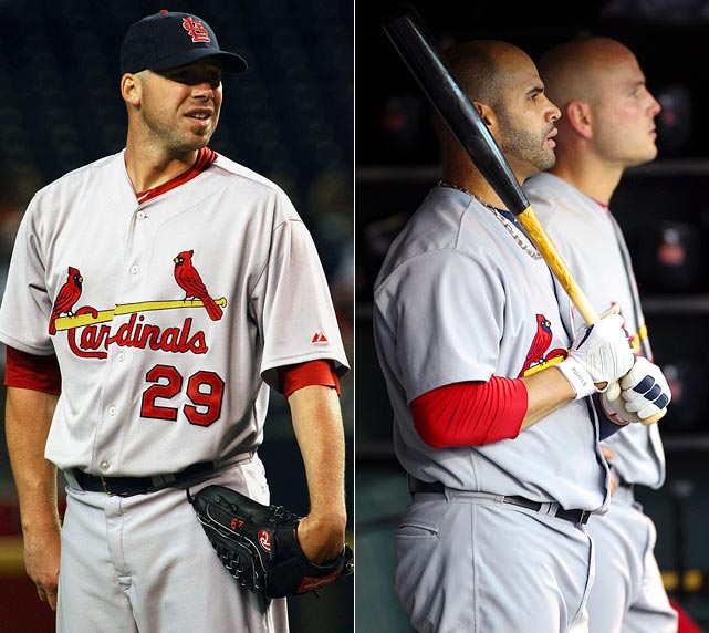Highest salaries:  Matt Holliday: $17 million Albert Pujols: $16 million Chris Carpenter: $14.5 million