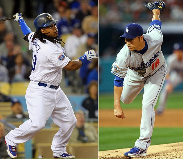 Highest salaries:  Manny Ramirez: $20 million ($10 million owed by Boston)  Hiroki Kuroda: $15.43 million