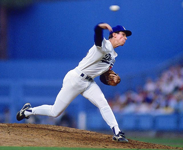 Orel Hershiser finished the 1988 season with a record 59 straight scoreless innings (he was 5-0 with 55 scoreless innings in September). Hershiser's run of perfection propelled the Dodgers past the Reds in the National League and to an eventual World Series win.