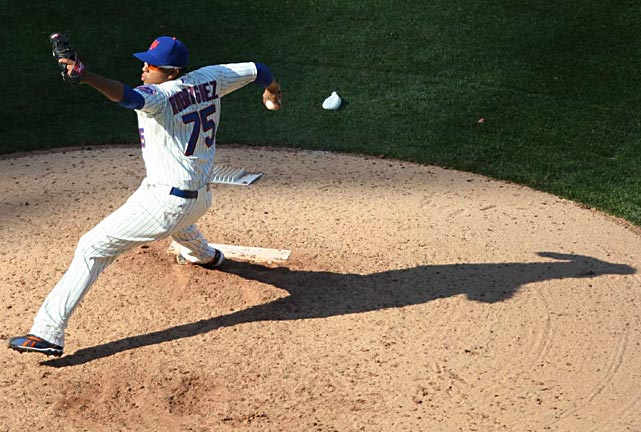 Mets closer Francisco Rodriguez finished the game as the home team prevailed 7-1.