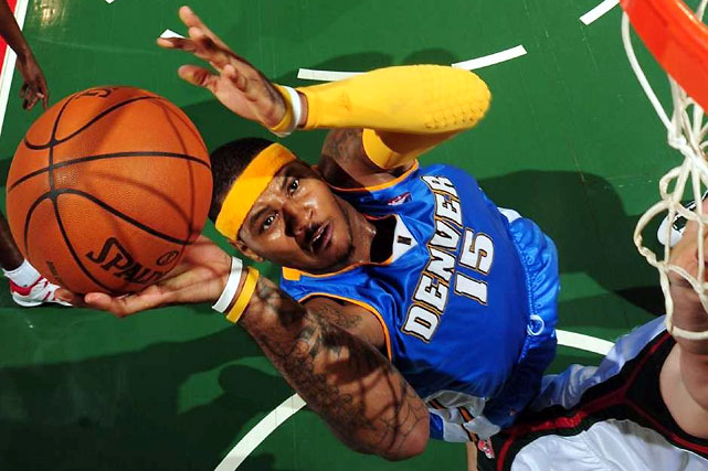 Carmelo Anthony, the league's third-leading scorer, has kept the Nuggets in contention despite the absences of coach George Karl and defensive leader Kenyon Martin.